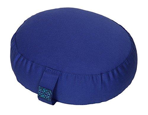Yogilino® Reise Meditationskissen / Yogakissen Mini oval, L 26 x B 21 x H 9 cm, Bezug und Inlett aus 100% Baumwolle, Füllung Buchweizenschalen, Bezug und Inlett maschinenwaschbar bis 30ºC