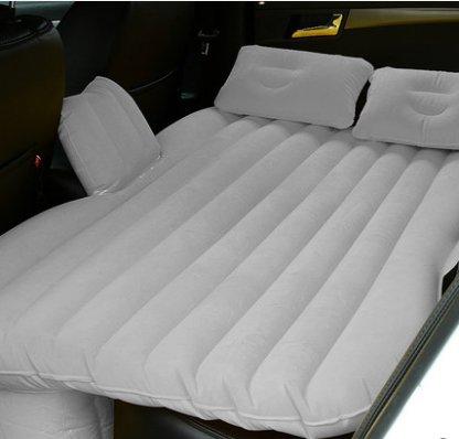 Matelas gonflable d'air de voiture de confort, lit de voiture, lit d'air arrière de voiture SUV, lit d'air de wagon de station, matelas de sommeil ( Couleur : Gris )