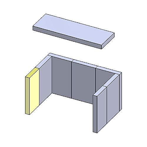 Wandstein vorne Links/rechts 270x130x30mm (Schamotte)