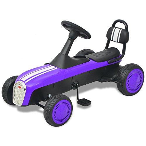 vidaXL Kinder Go-Kart Rennkart Gocart Go Cart Tretauto Gokart Tretfahrzeug Lila