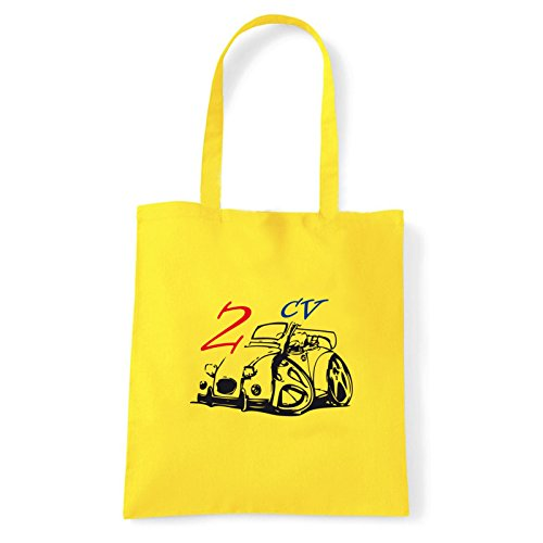 Art T-shirt, Borsa Shoulder 2-cv Giallo