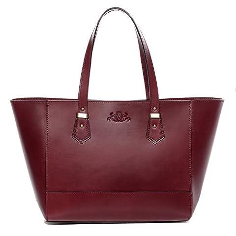 Scotch & Vain large tote bag & shoulder bag - handbag TRISH stable character - women`s bag red leather
