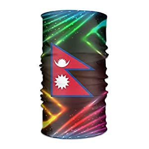 Nepal Flag Unisex Outdoor Sport Scarf Headbands Bandana Mask Neck Gaiter Head Wrap Sweatband Headwear