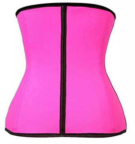 YuanYan Damen Latex Training Sport Unterbrust Korsett Rosa