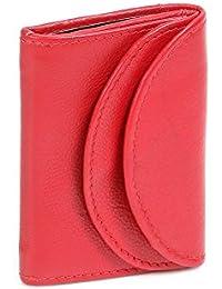 Minibörse LEAS in Echt-Leder, cherry - LEAS Mini-Edition