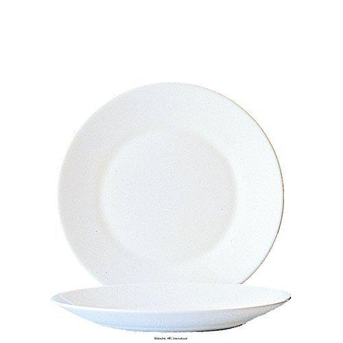 Arcoroc Restaurant Uni Assiette Plate 23,5cm, 6 assiette