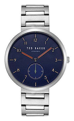 Ted Baker Gents Mans Stainless Steel Watch on Bracelet with Blue Dial 'Josh' TE50011009