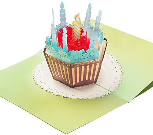 Geburtstagskarte mit extra Seite für Grüße - überraschende Gratulationskarte für Jubiläum Geburtstag & als Glückwunschkarte - hochwertige 3D Pop-Up Karte für Glückwunsch & Gratulation (Billig 60 Einladungen Geburtstag)