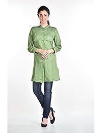 Aaina Women's Green Kurti