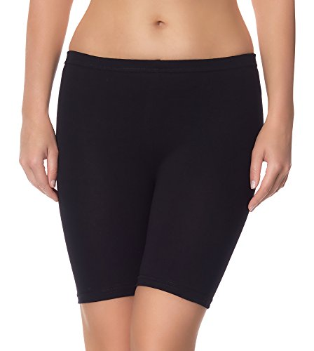 Ladeheid Damen Shorts Radlerhose Unterhose Hotpants Kurze Hose Boxershorts LAMA04 (Schwarz13, S/M)
