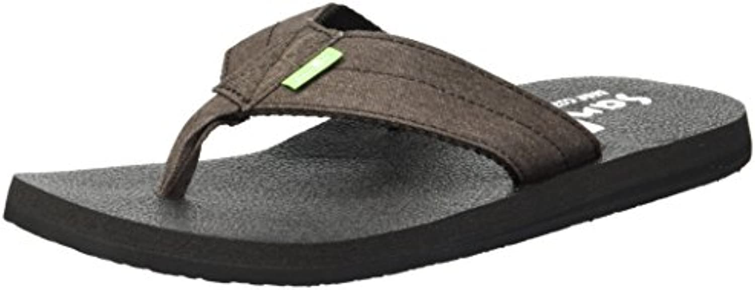 Sanuk Men's Beer Cozy Coaster TX Flip-Flop, Marronee Washed, 8 8 8 M US | Abile Fabbricazione