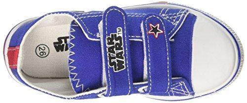 Star Wars Jungen Canvas Low Niedrige Sneaker Blu (Royal)