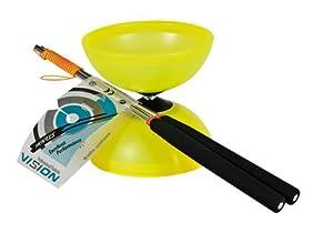 Henrys Diabolo Vision - Diábolo y Palos de Aluminio, Color Amarillo