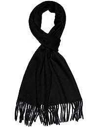 "Lorenzo Cana Caschmere Men's Scarf Shawl 100% Cashmere 12"" x 75"" 30 cm x 180 cm Black Made in Germany"