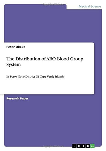 The Distribution of ABO Blood Group System: In Porto Novo District Of Cape Verde Islands