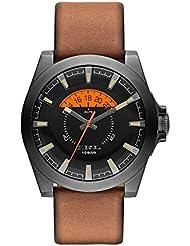 Diesel Herren-Armbanduhr XL Analog Quarz Leder DZ1660
