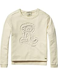 Scotch R'Belle Crew Neck with Embroidered Artwork, Sweat-Shirt Fille