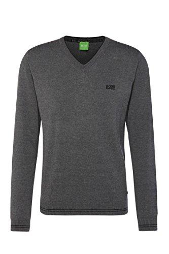 Hugo Boss Pullover Green Label Herren Pullover V Neck Wime_W16 Größe S-XXL (L, Grau)