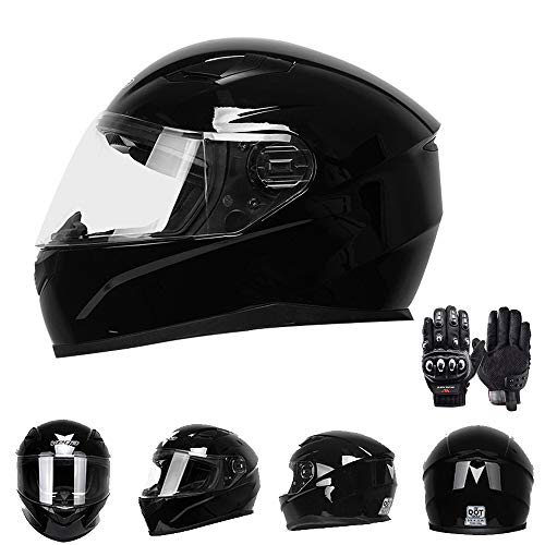 Adult Motocross Helmet Full Face Uncovering Dakar Rally Safety Cap F1 Racing Helmet, Men and Women Road Motorized Riding Protective Gear,Black,XXL(23.62