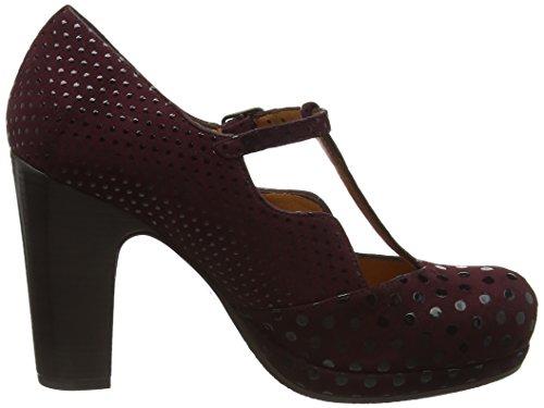 Chie Mihara Ruana - Chaussures à plateforme et à talons avec lanière en T - Femme Violet (Dot Grape/Xuva Grape)