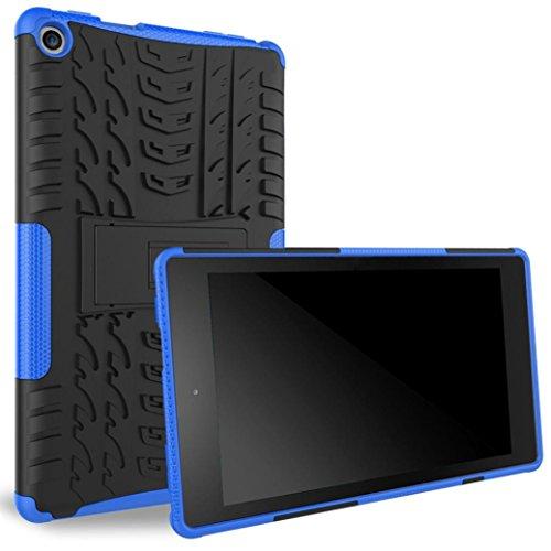 Fire HD 8Schutzhülle, Amazon Fire HD 86th Gen 2016Schutzhülle, tonsee Gummi stoßfest Fall Hybrid Porte-Support Deckung für Fire HD 8 Mehrfarbig blau (Für 7-zoll-lenovo Fällen Tabletten)