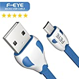 #6: F-eye 3ft Long Micro Usb Cable With Charging Speeds Up To 2.4Amps For Samsung, Lenovo, Lumia, Oneplus, Xiaomi,(BLUE)