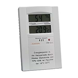 klimatherm digitales thermometer hygrometer schimmel vorsorge wohnklima messger t dth 10 s 1. Black Bedroom Furniture Sets. Home Design Ideas