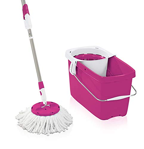 Leifheit Disc Set Mop, Metal, Rosa, 48x27x27 cm