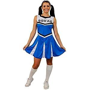 I Love Fancy Dress ilfd4057-Disfraz de animadora con Squad ImpresióN y falda