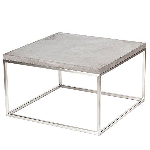 b2manufaktur Design Beton Loungetisch - Couchtisch - Beistelltisch Industrial Look - EDELSTAHL...