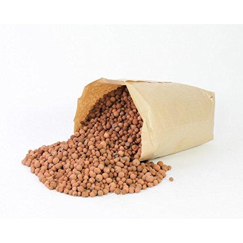 artplants Set 2 x di Argilla espansa in granuli/Argilla per piante, marrone, 40 litri, 16 kg - 2 sacchi di Idroponica per vasi/Argilla decorativa