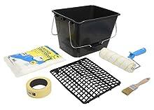 Tecno Prodist TECPINT-Kit speciale applicazione interno-rullo di vernice anti-goccia qualità professionale con vaschetta, griglia, nastro, copritutto, pennello, 5 pezzi