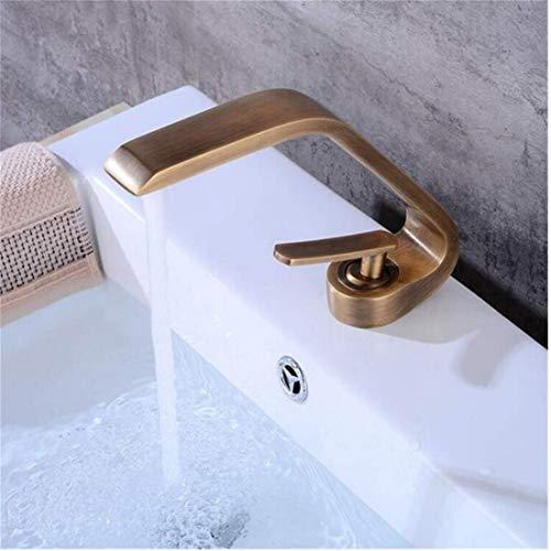 Stainless Steel Vintage Brass Design Deck Mount Full Brass Bathroom Single Handle Mixer Taps Chrome Finish Antique Brass -