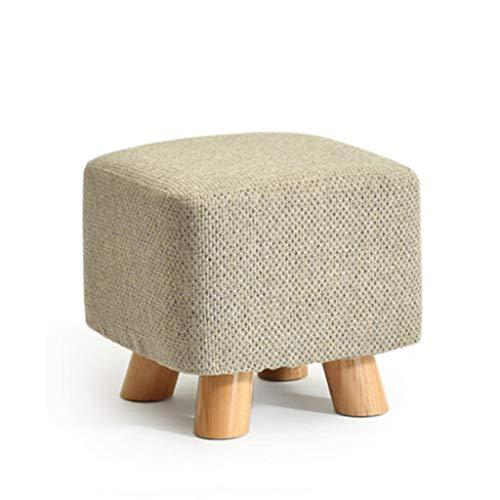 wooden stool Tabouret en bois massif Tabouret de canapé Tabouret bas Accueil Table basse Tabouret Changement Banc de chaussures Petit banc (gris clair) (Couleur : #1)