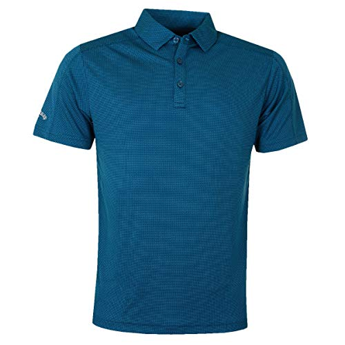Callaway Mens SS 2 Farbe Mode Jacquard-Polo-Hemd - Deep Dive - XXL - Farbe-block-polo-golf-shirt