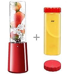 IFDyj Juicer Juice Fountain Fruit 150W Accueil Automatique Multi-Fonction Étudiant Électrique Juice Cup Portable Haute Qualité Facile à Nettoyer Juicer (Couleur : Rouge)