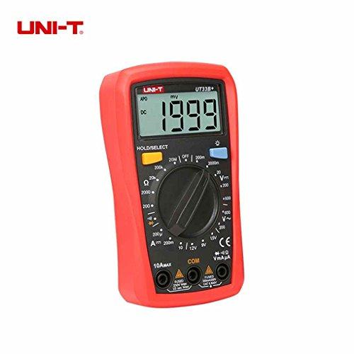 UNI-T Digitale UT33B + Multimeter Manuelle Reichweite AC DC 600 V Spannung Meter DC 10A Strom Tester Widerstand Palm Größe Meter