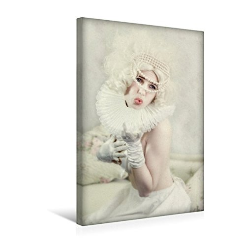 Calvendo Premium Textil-Leinwand 30 cm x 45 cm hoch, Küsschen | Wandbild, Bild auf Keilrahmen,...