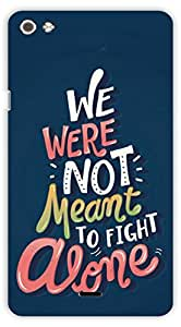 Crazy Beta fight alone quote with dancing words Printed mobile back cover case for Micromax Canvas Silver 5 Q450