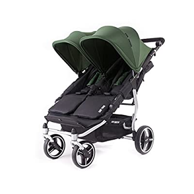 Baby Monsters- Silla Gemelar Easy Twin 3.0.S ( Silver ) - Color Verde Forest + REGALO de un bolso de polipiel (capota normal) Danielstore