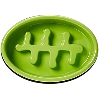 AmazonBasics Dog Slow Feeder Bowl for Anti-Bloating 414Uy6Il5DL