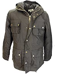 Relco Mens Olive Green Waxed Military Style Coats