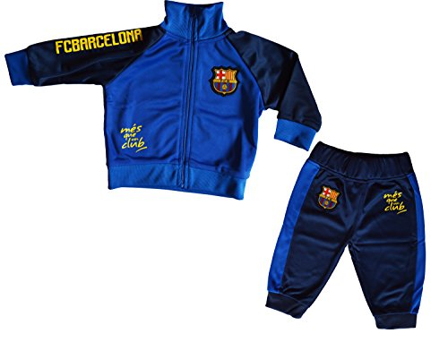 Survetement bebé Barca–Colección Oficial FC Barcelona, Bebé niño, Azul, 6 Meses