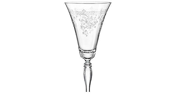 marque Bohemia Cristal Coffret de six verres /à vin VICTORIA avec d/écor v/ég/étal grav/é en cristallin de Boh/ême