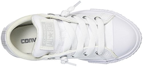 Converse Chuck Taylor All Star Street Junior White Synthetic Trainers bianco - bianco