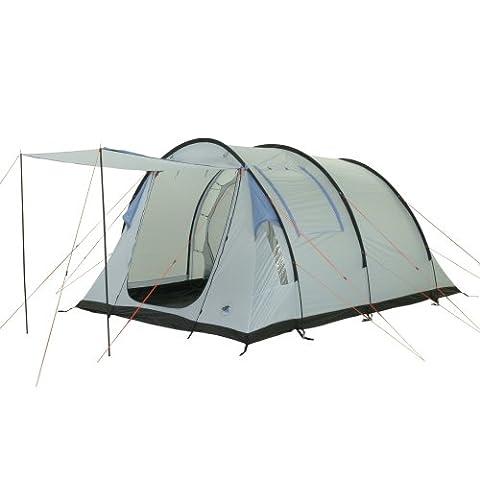 10T Camping-Zelt Salton 4 Tunnelzelt mit Schlafkabine für 4 Personen Outdoor Familienzelt mit Wohnraum, eingenähte Bodenwanne, Sonnendach Aufstellstangen, wasserdicht mit 5000mm Wassersäule