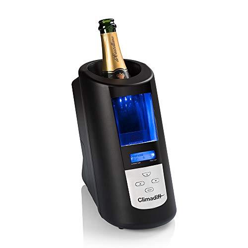Climadiff Flaschenkühler ECHANSON2 - Schnelle Kühlung - Einfach zu bedienen - Vordefinierte Temperaturen für alle Weinsorten