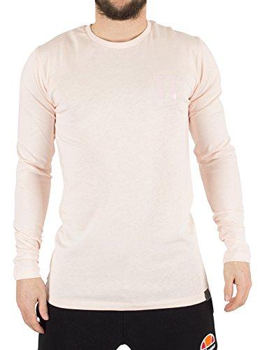 11 Degrees Herren Core Longsleeved Logo T-Shirt, Rosa Rosa