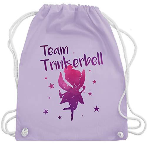 Tasche Alkohol Kostüm - JGA Junggesellinnenabschied - Team Trinkerbell - Unisize - Pastell Lila - WM110 - Turnbeutel & Gym Bag