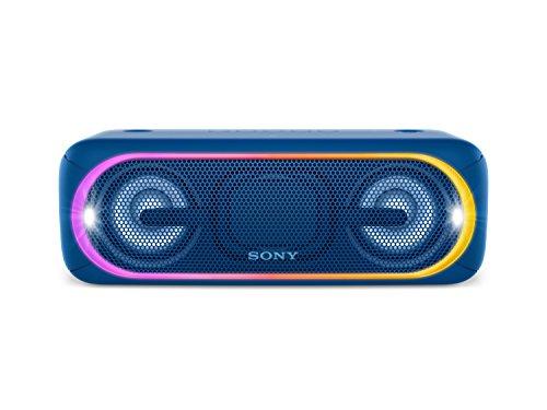 Sony Lautsprecher Mit Mp3-player (Sony SRS-XB40 Tragbarer kabelloser Lautsprecher (Bluetooth, NFC, wasserabweisend, 24 Stunden Akkulaufzeit) blau)